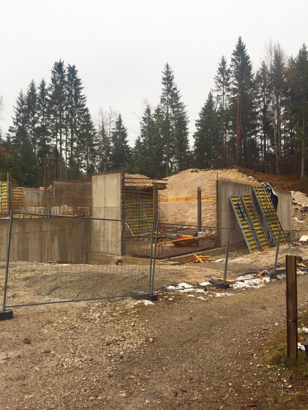 Bauarbeiten am Hochbehälter Christlhütte